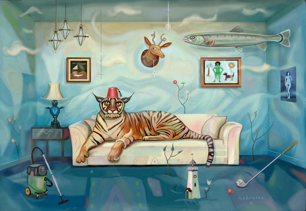 Couch Cat $1000 unframed / $1200 framed