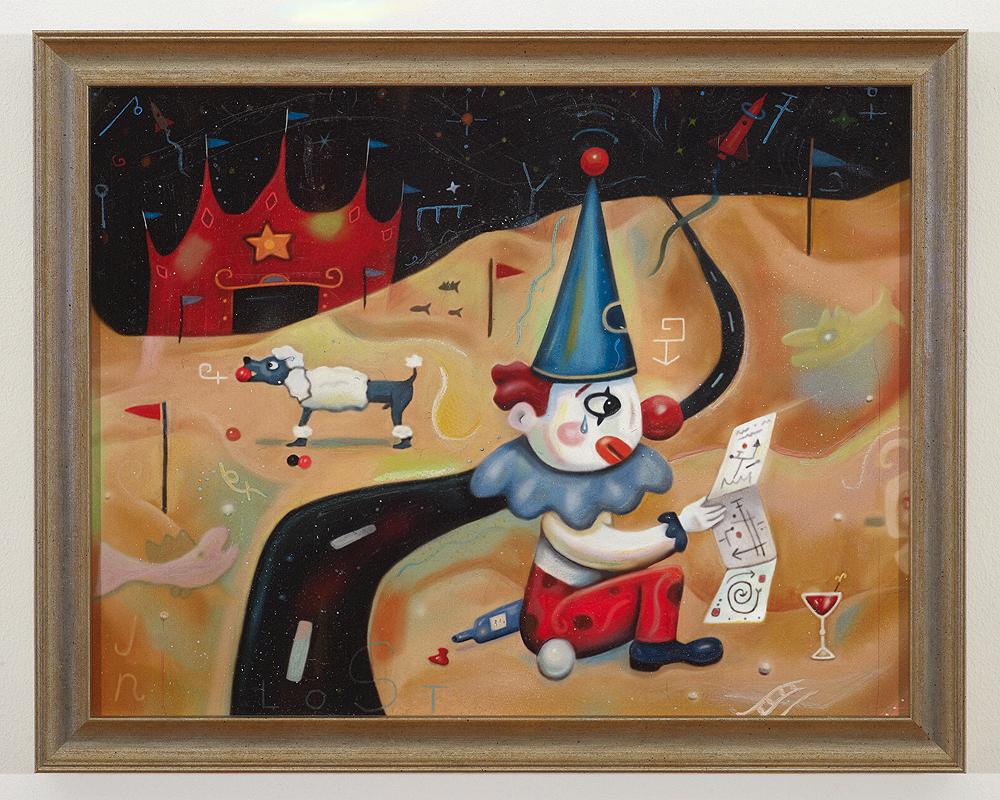 Happy Sad Lost Clown $600