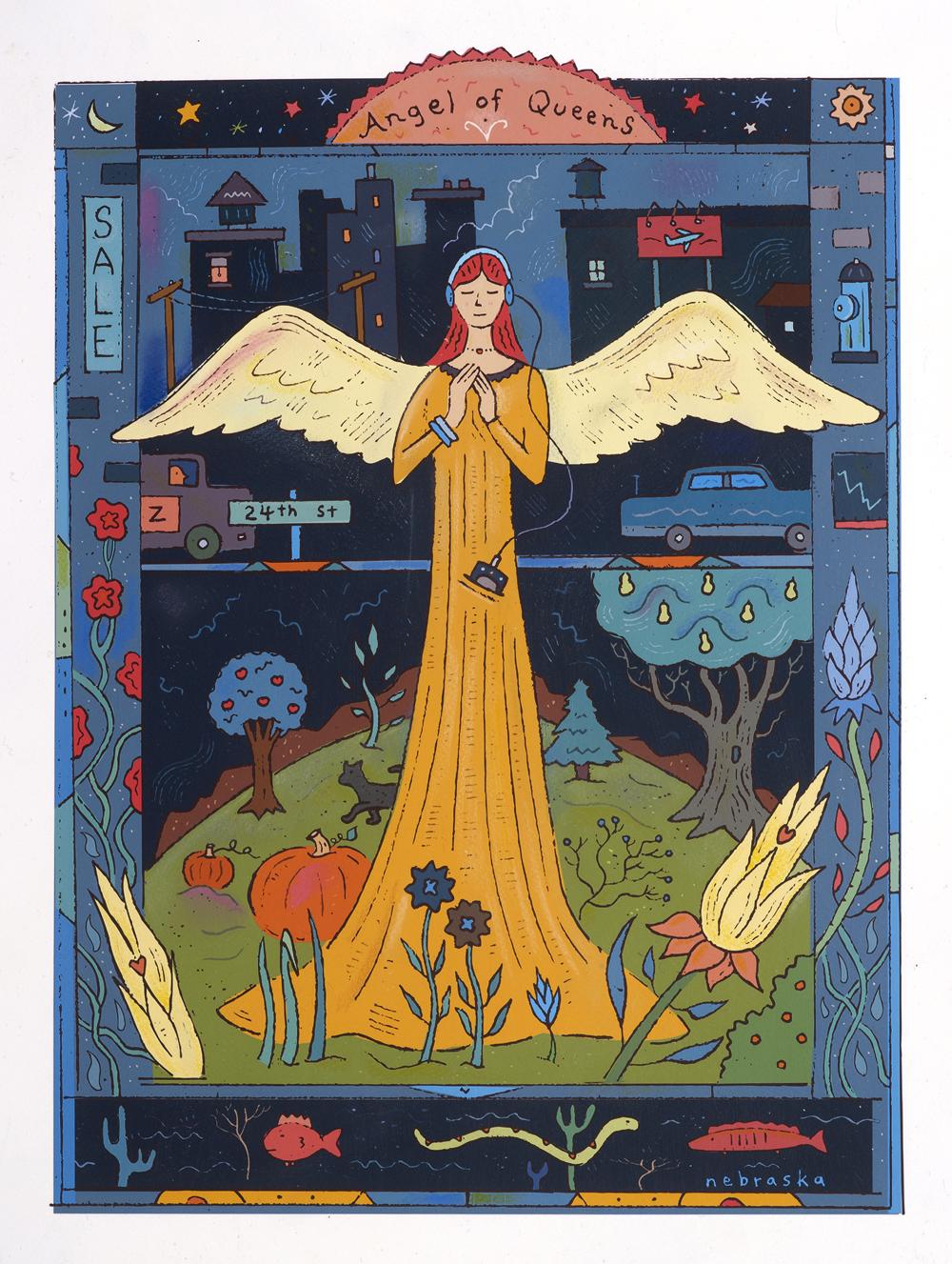 Angel of Queens $400 unframed / $600 framed