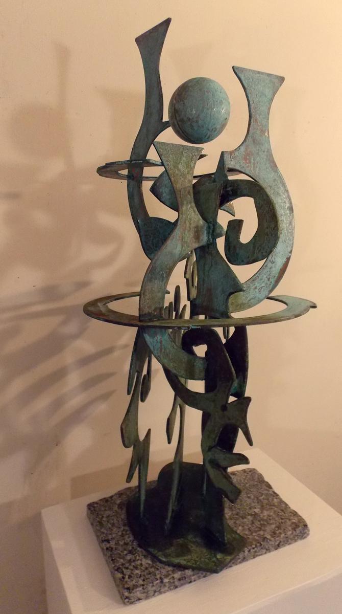 """Terra Levitas"", copper, 36""hX18""wX18d, 2015 $6,000"