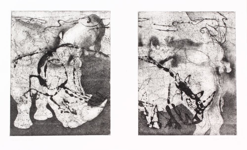 Dona Barnett – Rhinos In The Dark - $450