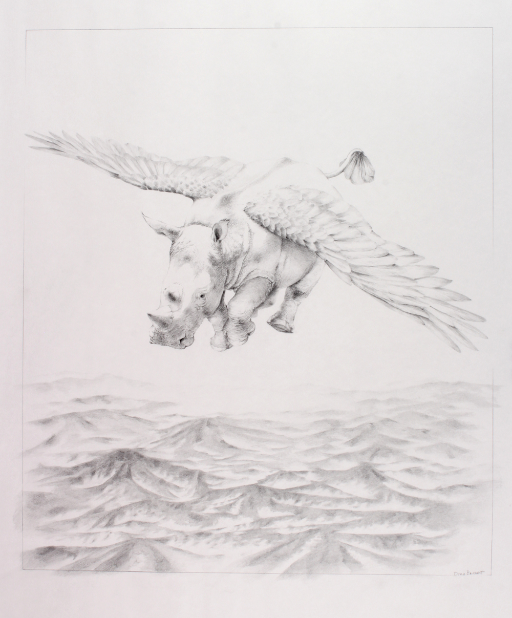 Dona Barnett – And Then I Dreamt That I Was Flying Over The Mountains With Mist Rising - $850