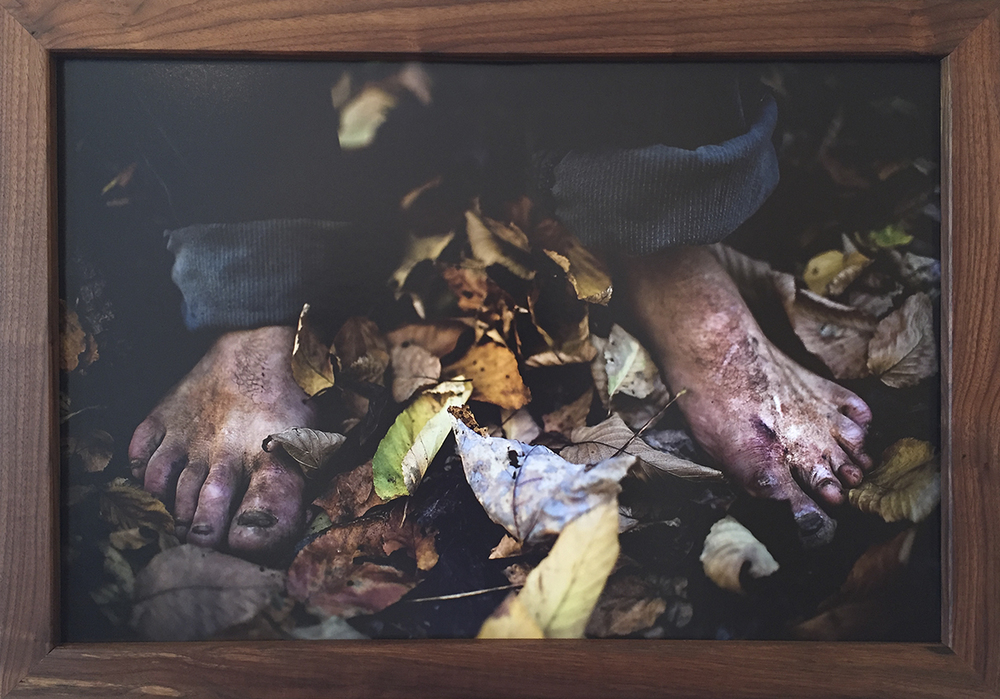 Tod's Feet - $600 – Mounted Photo w/ Handmade Black Walnut Frame