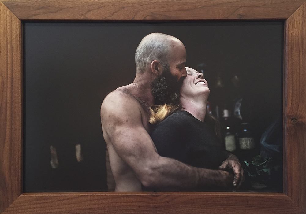 Tod and Talia - $400 – Mounted Photo w/ Handmade Black Walnut Frame