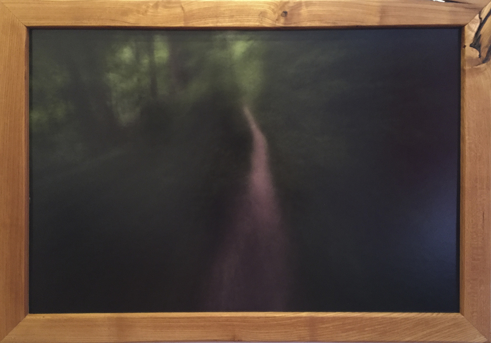 The Trail Home - $600 – Mounted Photo w/ Handmade Mulberry Frame