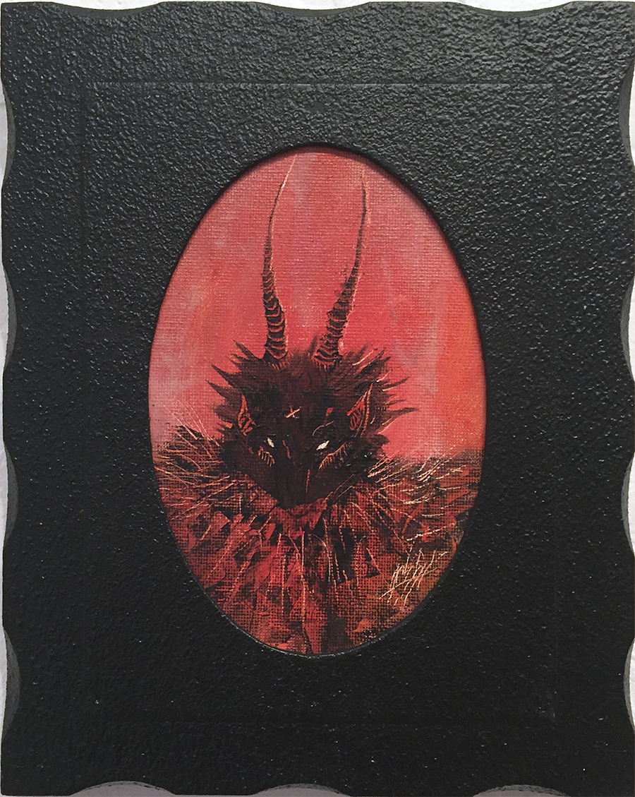 Zach Briggs – Demon – Oil on Panel – 10 x 8 inches - $150