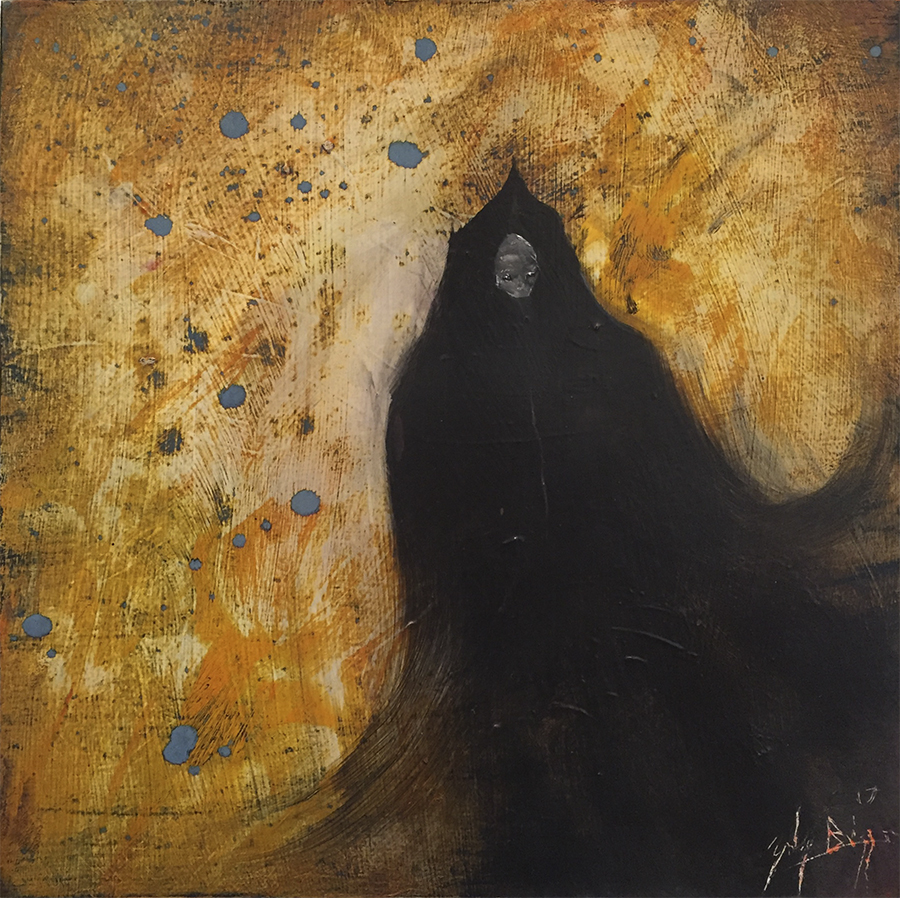 Zach Briggs – Night Witch – Oil on Panel 12 x 12 inches - $500