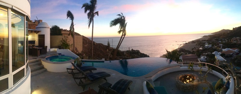 Nightly sunset wow from your Solstice five master suite home in Cabo.