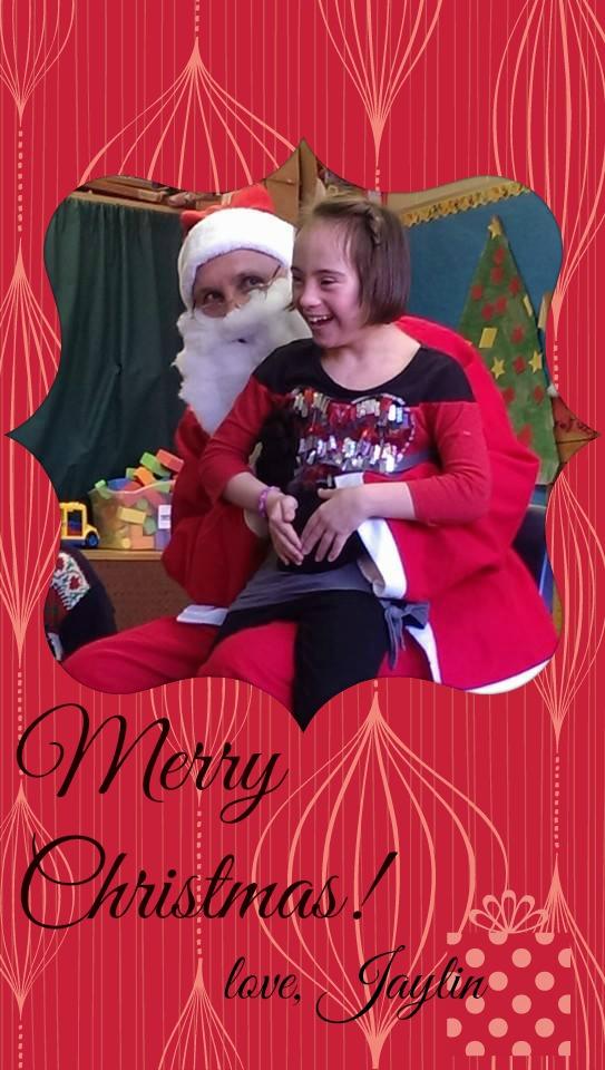 Jaylin and Santa!