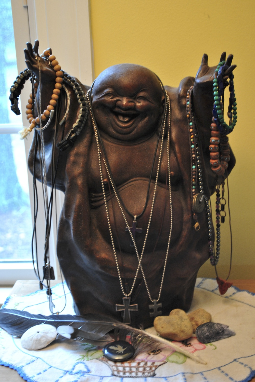 Happy Buddha, purchased from Dharma Craft. What's not to love?
