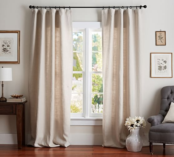 1. Belgian Flax Curtains (natural)