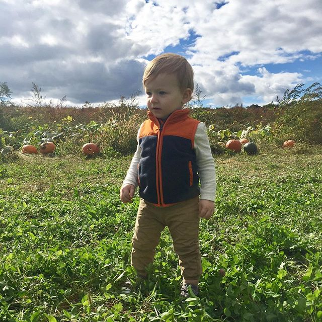 The obligatory pumpkin patch pic. 🎃