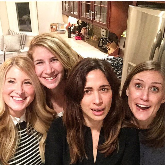 This is what 2.5 bottles of wine, 4 beers, and 20 years of friendship looks like. @emilytesta @jamieelizabethp @lcooper03
