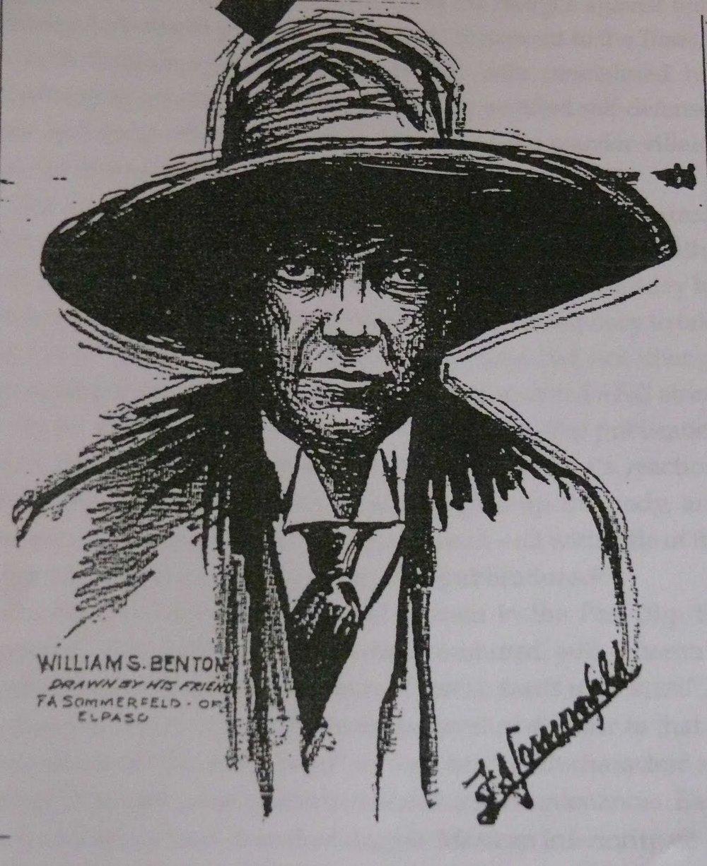 William S. Benton drawn by Felix A. Sommerfeld