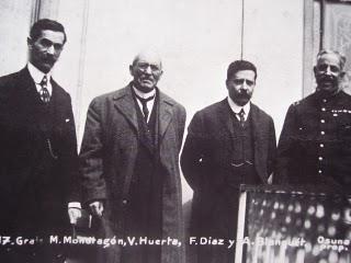 Generals Mondragon, Huerta, Felix Diaz and Blanquet