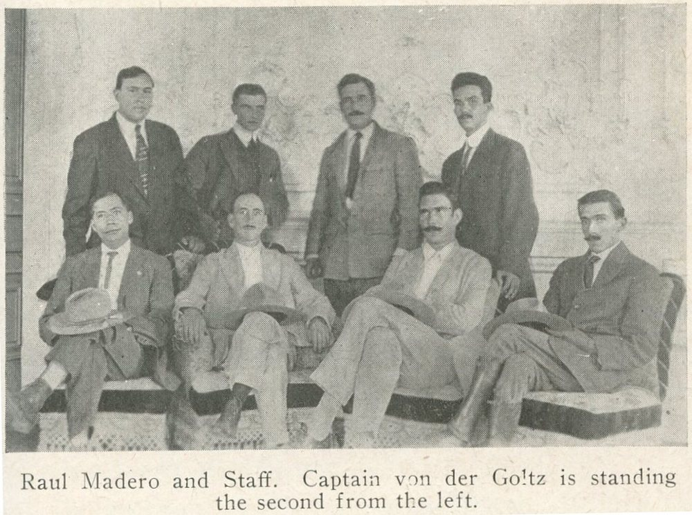 Horst von der Goltz and Felix A. Sommerfeld (top left)