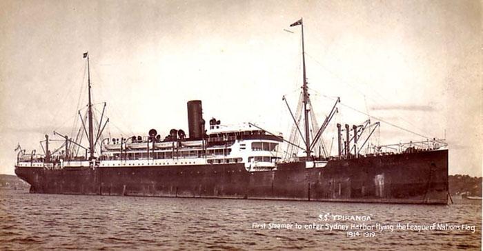 The HAPAG Steamer  SS Ypiranga