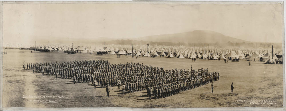 The Valcartier Camp in the end of August 1914