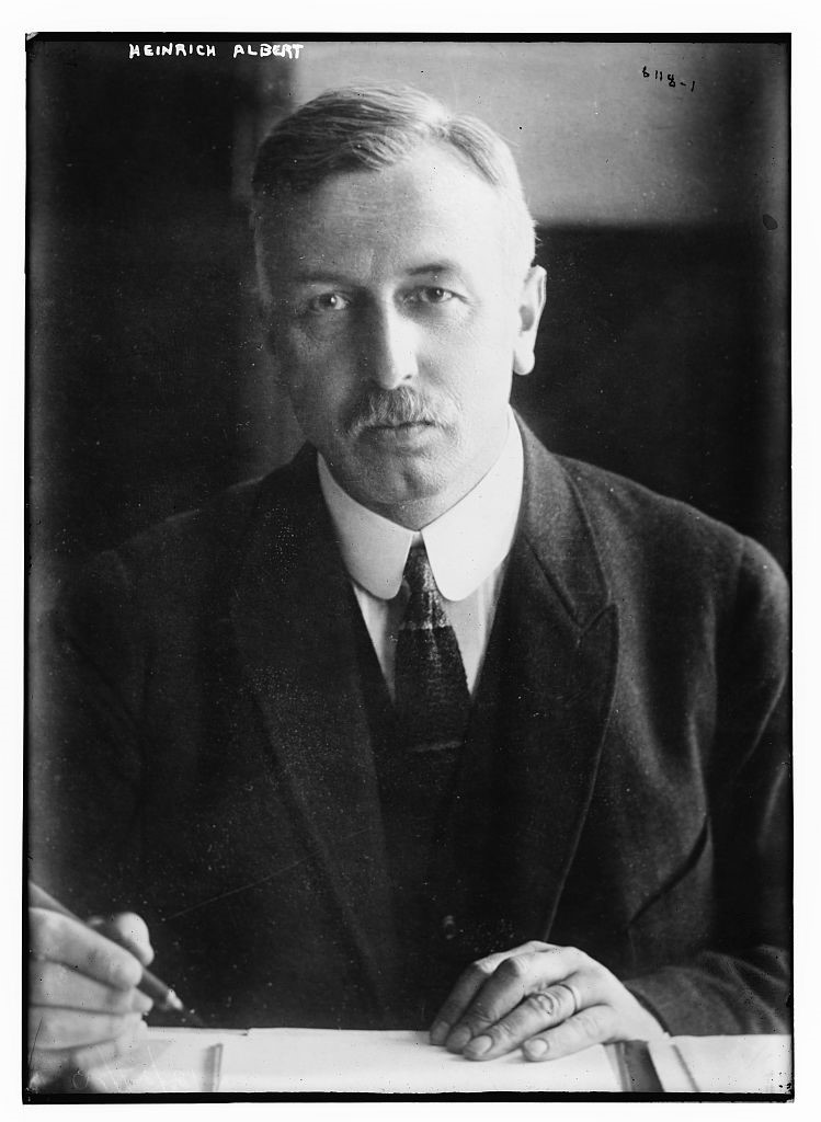 Heinrich F. Albert in his office in New York in 1915