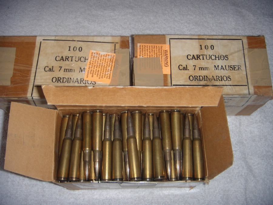 The standard Mexican 7mm Mauser cartridge of 1915