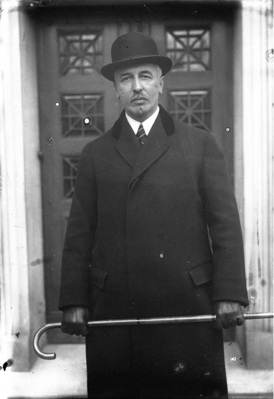 Heinrich F. Albert, German Commercial Attache in New York in 1915. Briefly German Secretary of Treasury in the Weimar Republic