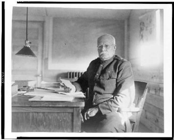 Chief of the Army, Major General Hugh Lenox Scott at his desk.