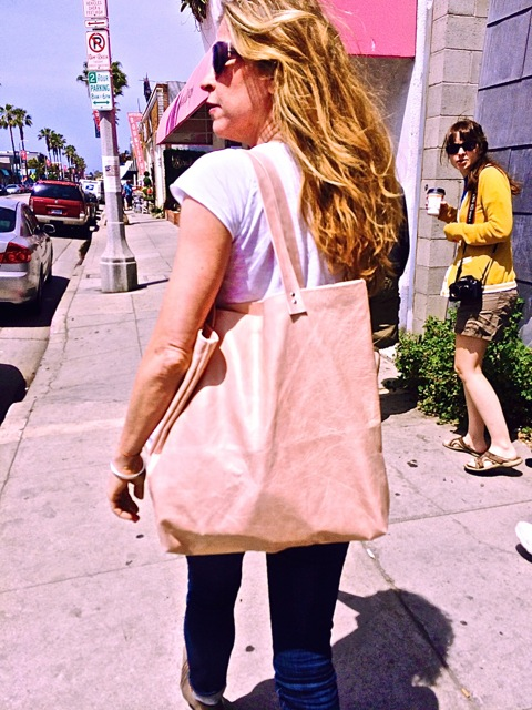 Strolling down Abbot Kinney in Venice on a sunny Saturday afternoon.