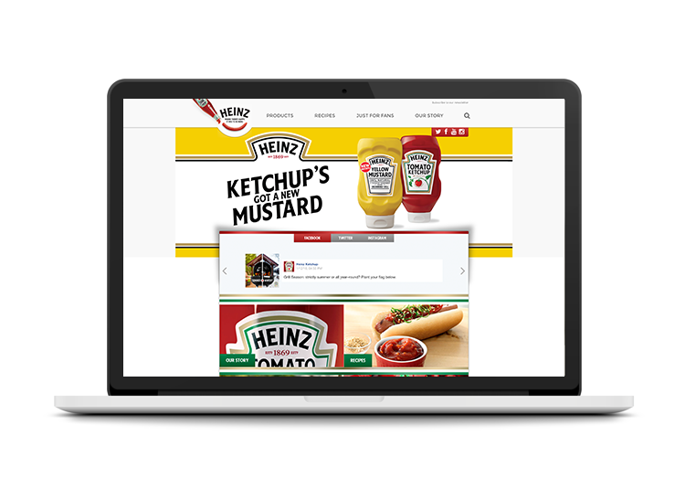 featured on the HEINZ's  homepage .