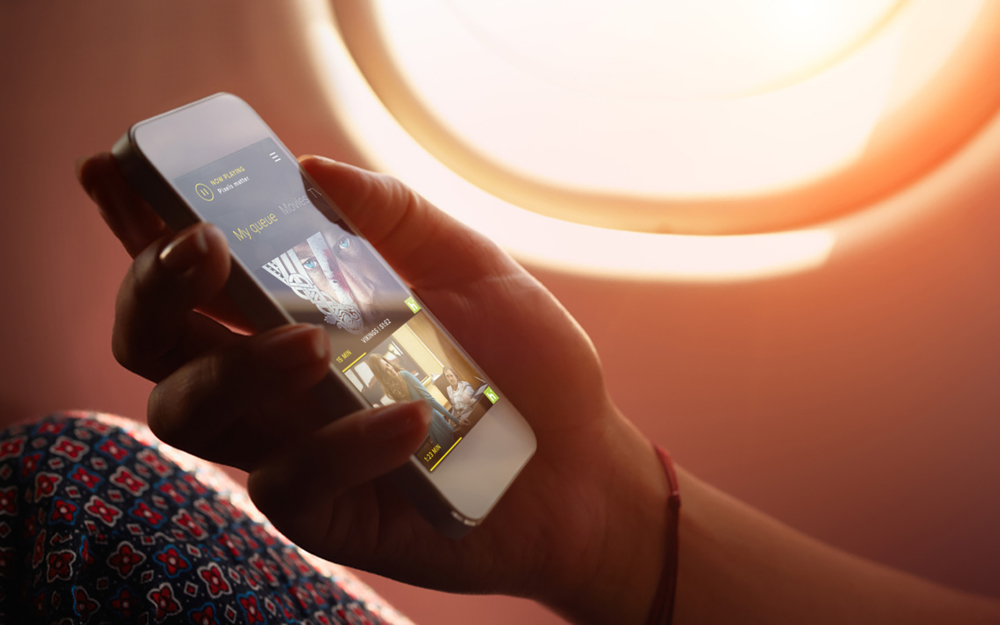PERSONAL DEVICES become a holistic part of the suite ecosystem. They provide the most relevant content & media and personalize service, itinerary and space settings to specific passenger.