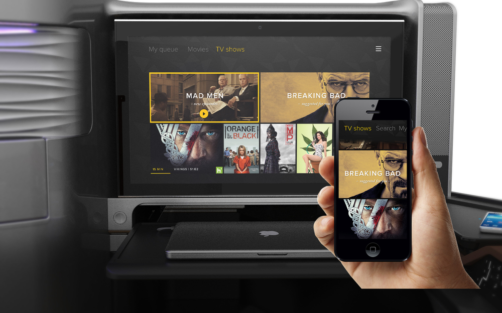Browsing Media |Both personal & airline content is seamlessly displayed on all connected devices.Media Navigation Flow is the same for all devices.