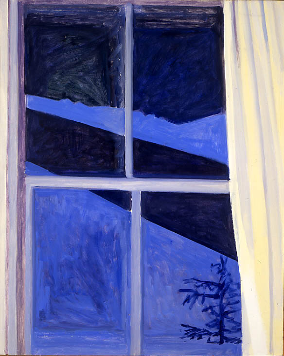 Blue Night Window