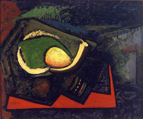 Cubist Still Life With Pear