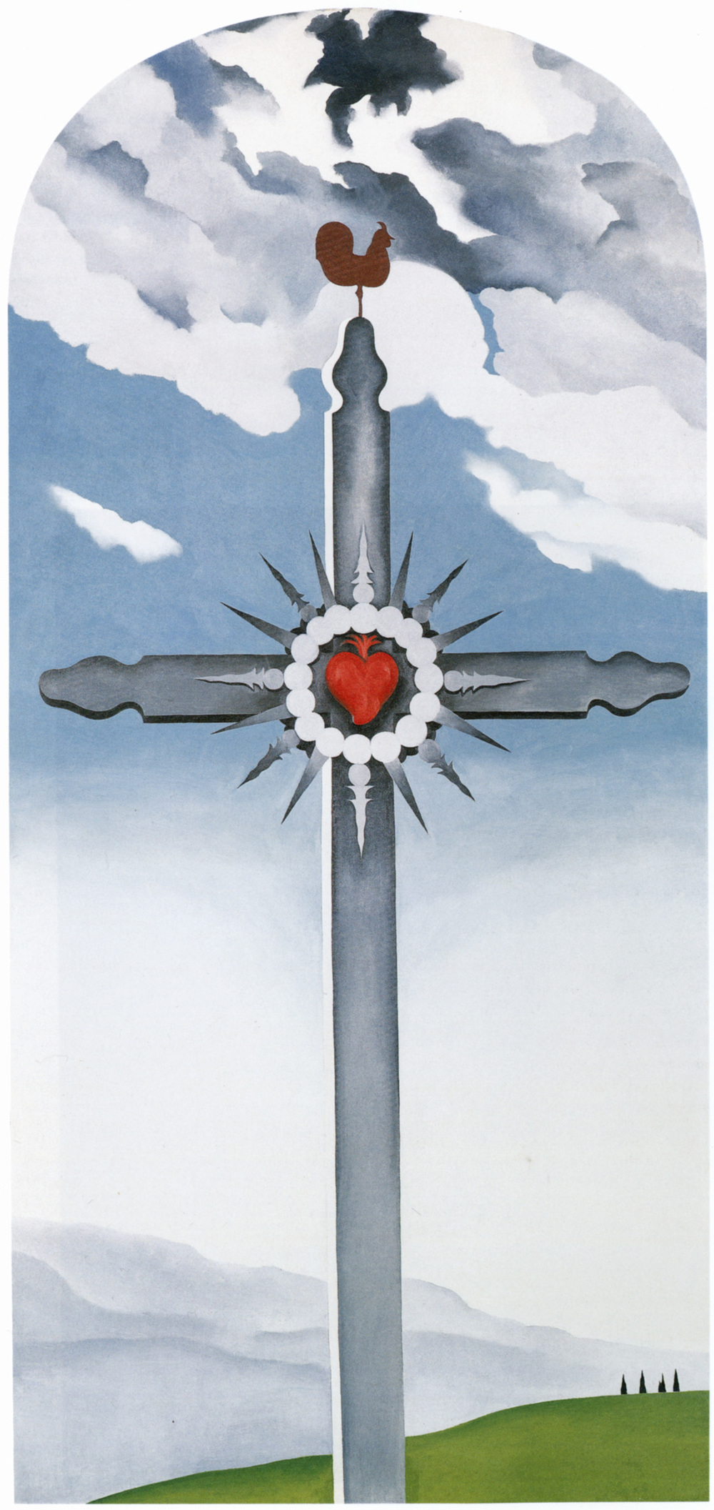 Cross With Red Heart