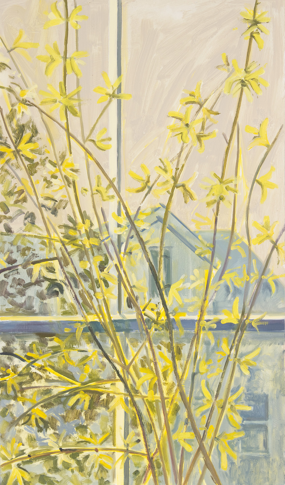 Forsythia in Window