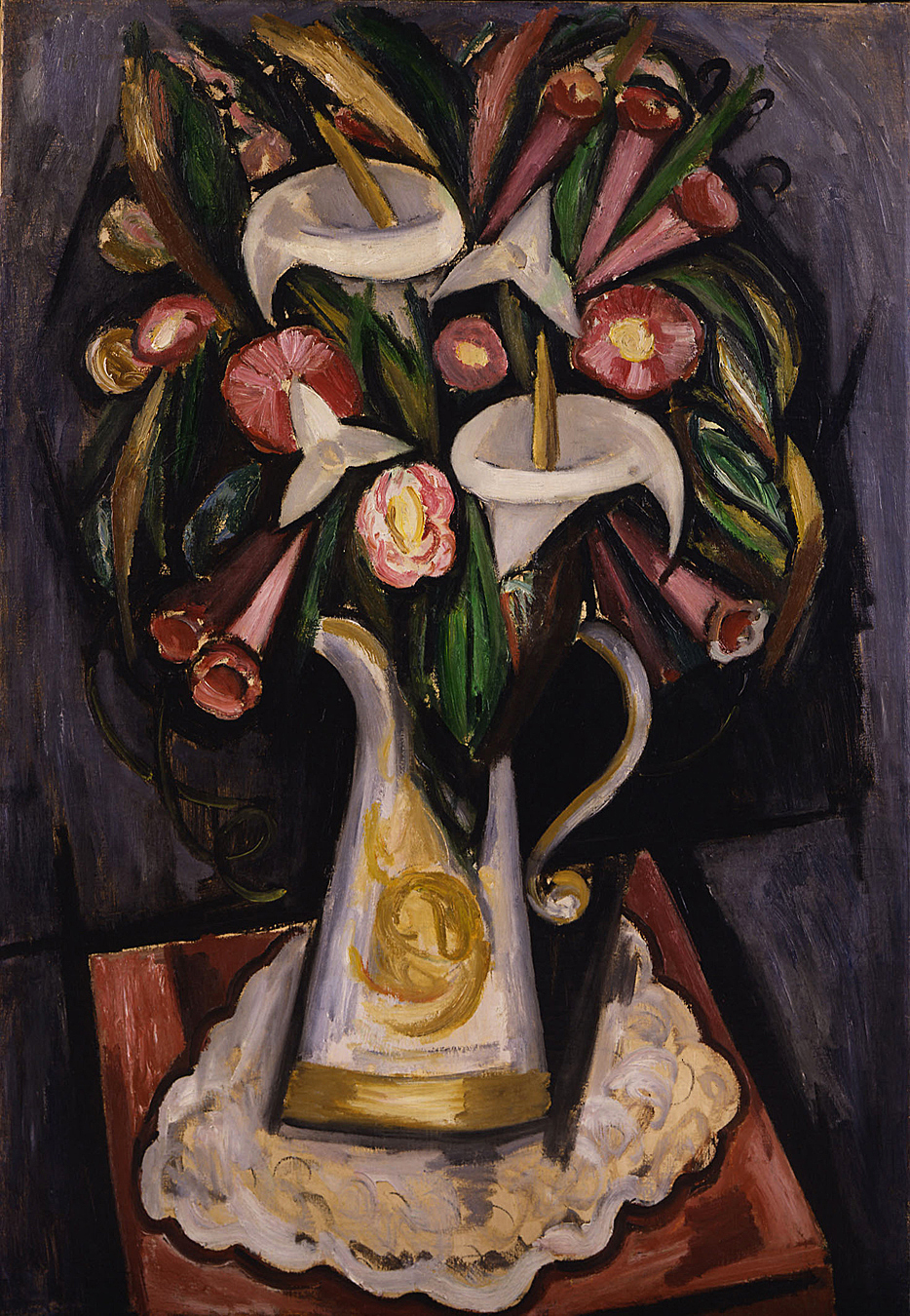 Pitcher With Calla Lilies