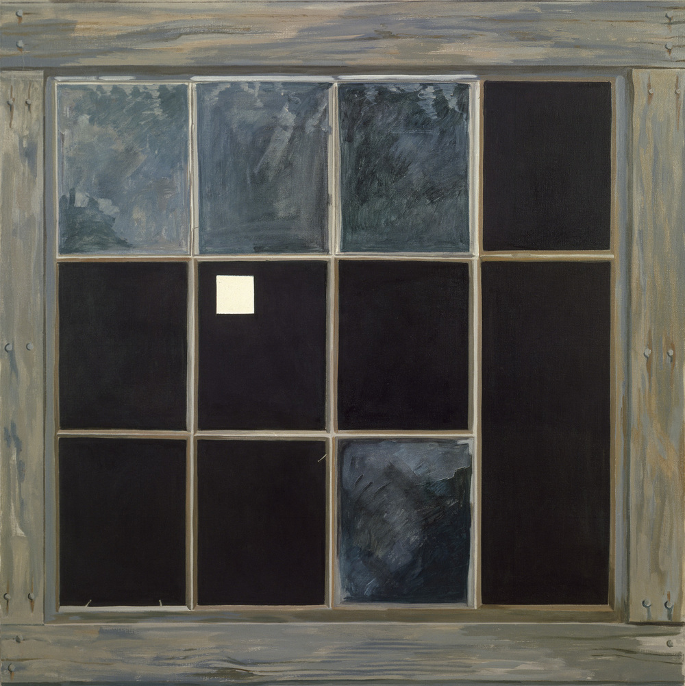 Barn Window with White Square