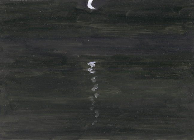 Moon & Reflections on Mudflat
