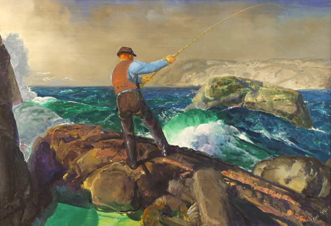 George Bellows, The Fisherman, 1917 acquired by Amon Carter Museum of Art, Fort Worth, Texas.