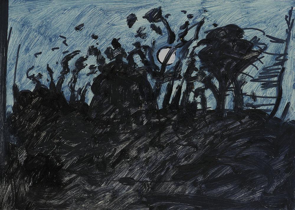 Full Moon Through Trees