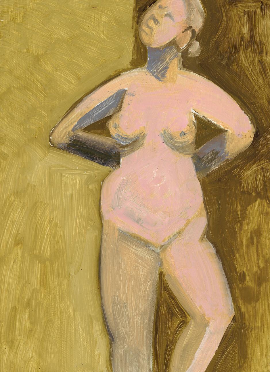 Standing Nude, Hands Behind Back