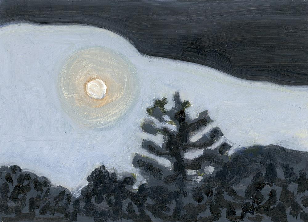 Moon in Cloudbank