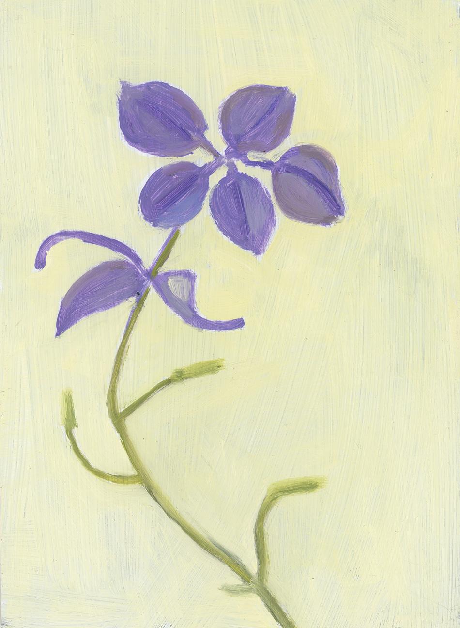 Five Lavender Petals