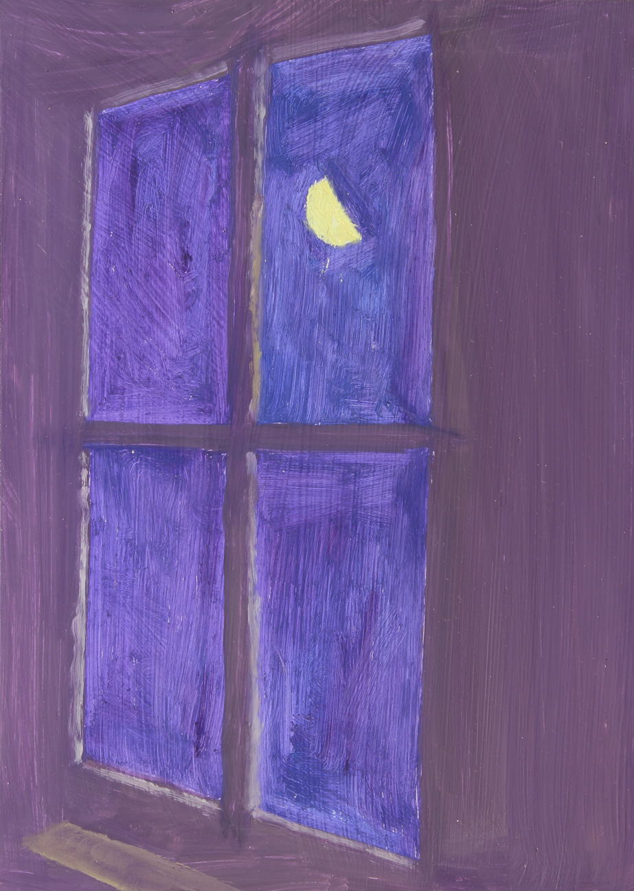Purple Window + Moon