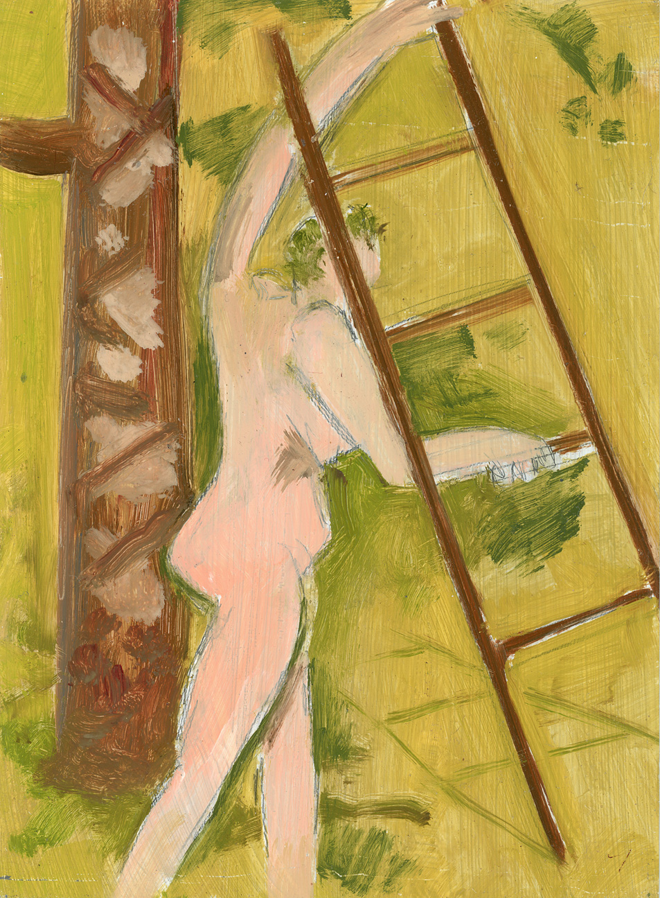 Nude with Ladder