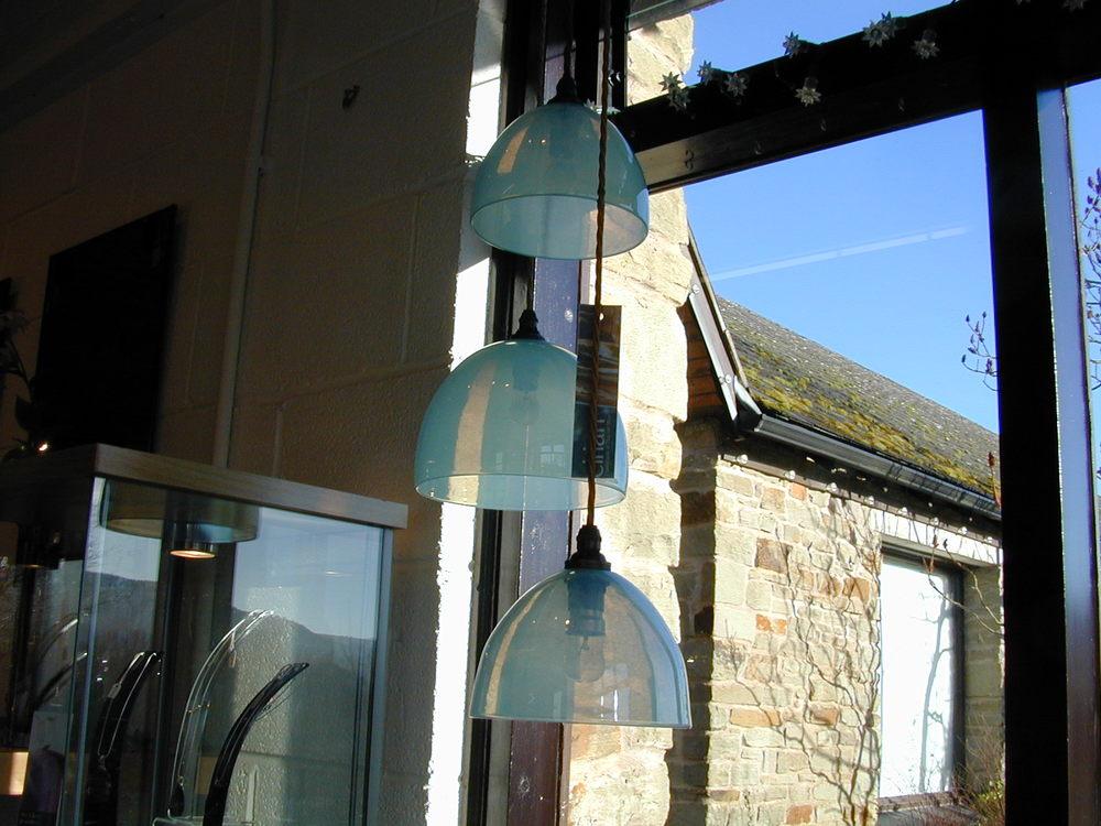 Minty lampshade pendants eirian