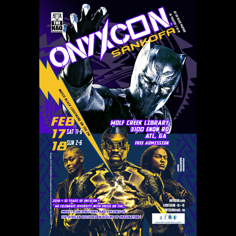 ONYXCON! Atlanta is WAKANDA! Atlanta is FREELAND !