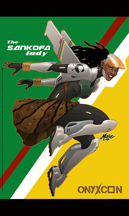 MASE ! The Artist behind The SANKOFA LADY/LADY SANKOFA and URBANSHOGUN COMICS is BACK!