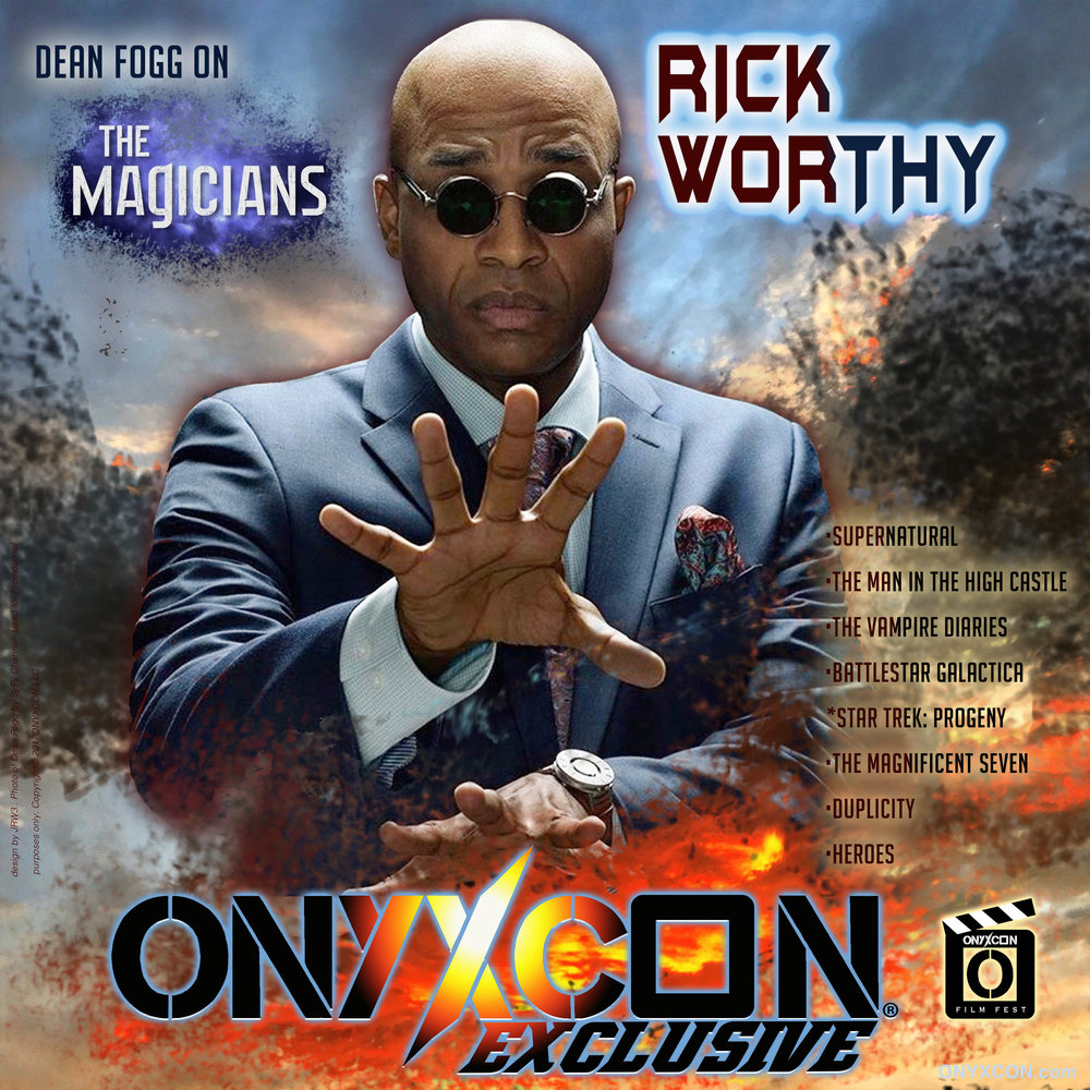WE ARE LOOKING FORWARD TO WELCOMING OUR EXPECTED GUEST RICK WORTHY! RICK WAS A streaming interview guest previously at ONYXCON: SANKOFA 2017 and WE ARE ELATED To HAVE HIM IN ATLANTA! Let's see some MAGIC!