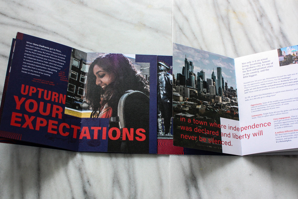 University of Pennsylvania - Admissions Suite - Travel Piece Spread