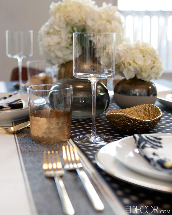 Inspired: Setting A Table With Nake Berkus | via Elle Decor | CLOTH & KIND